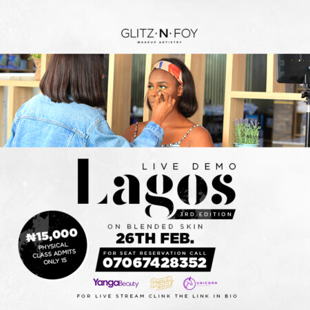 Glitz n Foy Lagos Live Demo: Blended Skin